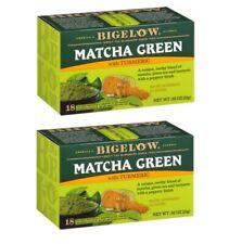Bigelow Matcha Green Tea with Turmeric - 2 Boxes - 36 Tea Bags