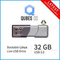 Qubes OS 64-Bit 32 GB 3.0 USB Bootable Linux Install Live Flash Drive Latest