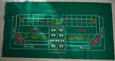 Felt tablecloth - Craps and Blackjack - 72 by 36 inches