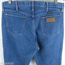 Vintage Wrangler Jeans Mens Size 36 x 32 (Actual 34 x 31) Leather Patch USA