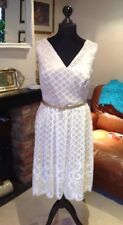 LADIES CREAM AND CHAMPAGNE LACE DRESS, SIZE 18. From KALEIDOSCOPE