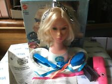 Vtg 1975 Sears exclusive quick curl Barbies miss America beauty center in box