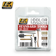 AK ACRYLIC PAINT SET STANDARD TOOLS ALL ERAS COLOR COMBO
