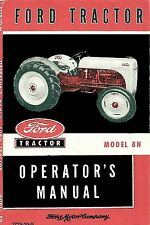 Ford Tractor Model 8N Operator's Manual 1948-1952  coil binding 8.5x11 version