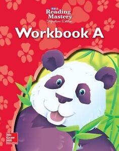 Reading Mastery Reading/Literature Strand Grade K, Workbook A Book Aus Stock