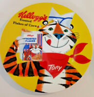 """VINTAGE Kellogg's TONY THE TIGER Frosted Flakes  8.5"""" Ceramic Plate 2005"""