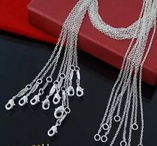 """10 X 22"""" 1mm 925 Silver Round Link Trace Chain Ladies Women's Necklace Wholesale"""