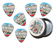 Fishing Boats Martin Wiscombe 6 X Guitar Picks In Tin Vintage Retro
