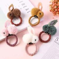 Cute Girls Plush Bunny Hair Bands Ropes Children Hair Clip Pins Hair Accessories