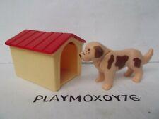 PLAYMOBIL ANIMALES. PERRO CON CASETA.