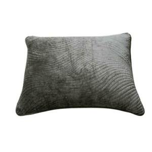 Tache Velvet Dark Taupe Brown Grey Plush Super Soft Decorative Pillow Sham Case
