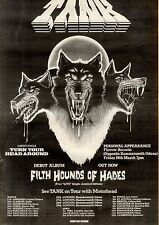 20/3/1982Pg24 Album, Single Advert, Tank, Filth Hounds Of Hade (with Motorhead)