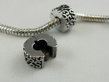 ANTIQUE SILVER PLATED CLIP-ON STOPPER BEAD  EURO STYLE CHARM BRACELETS (SB 045)