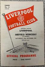 More details for liverpool reserves v sheffield wednesday reserves 1963/64