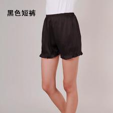 Women Ruffles Satin Shorts Loose Faux Silk Pajamas Bottoms Pants Nightwear