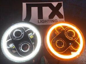 "LED Halo 5 3/4"" 143 mm White Headlights Jag Jaguar XJS Triumph Stag Leyland P76"