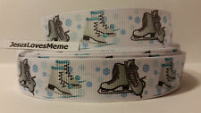 Grosgrain Ribbon, Ice Skating, Sports Teams, Snow Flakes, Skating Rink, 7/8""