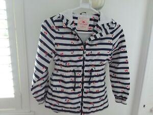Girls showerproof jacket 8/9 years