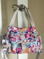 Kipling Felix Printed Handbag Melted Floral Multi Color FAIRFAX Shoulder Bag