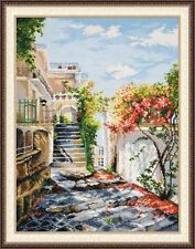 """Counted Cross Stitch Kit Oven - """"Italian Courtyard"""""""