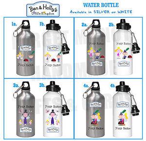 Ben + Holly personalised water bottle Flask school Drink PE Gaston Christmas