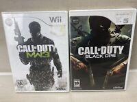 Call of Duty: Modern Warfare 3 Black Ops (Nintendo Wii) TESTED & WORKING LOT