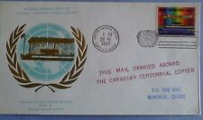Stamp cover UN 1987 WFUNA  Expo 87 Canadian Pavilion