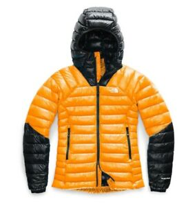 $375 TNF The North Face Women's Summit L3 Hooded 800 Pro Down Jacket M Yellow
