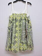 Nuevo Da-Nang Mujer Vestido de Verano Camiseta Ajustable 300 Verde SPS840 M