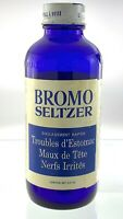 Vintage Bromo Seltzer Medicine 5.25 Ounces Empty Glass Bottle Lambert Q070