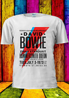 Bowie Hammersmith 1973 David T-shirt Vest Tank Top Men Women Unisex 2274