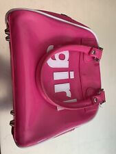Trumpette Schlepp Bag - Girl Small Fuchsia Pink Patent PVC Exercise Bag Tote