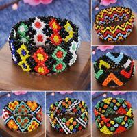 Handmade Boho Women Girls Beads Elastic Bracelet Wristband Holiday Bangle Gift