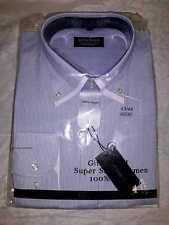 Camisa de Hombre 100% Algodón Estilo Negocios Ocio Manga Larga Slim Fit