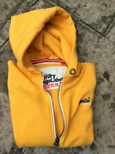 """MENS YELLOW FULL ZIP SUPERDRY  HOODIE SIZE XL CHEST 48"""" IN VGC"""