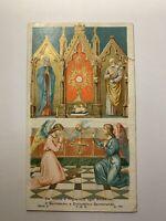 Santino Holy Card Santissimo E Divinissimo Sacramento