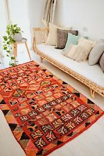 SAFIRA VINTAGE ONE OF A KIND AZILAL MOROCCAN LIVING BEDROOM RUG 200x120CM