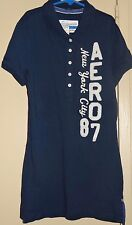 Aeropostale Girls Size M Aero 87 NYC Blue Golf Polo Rugby Short Sleeve Shirt NWT