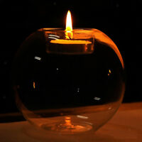 Glass Candlestick Tea Light Candle Holder Wedding Party Centerpieces 10cm