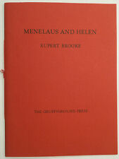 Gruffyground Press.  Menelaus & Helen by Rupert Brooke. One of 80 copies