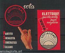 Set 2 CHIUDILETTERA  ETICHETTA d'epoca: PARTITO SOCIALISTA DEMOCRATICO ITALIANO