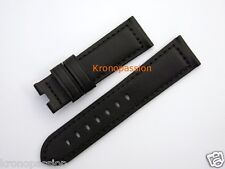 Panerai Black Leather Strap 22mm by 20mm for Luminor 40mm OEM New !