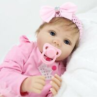 "Toddler Reborn Baby Girl Doll 22"" Soft Vinyl Silicone Lifelike Newborn Gift 2019"