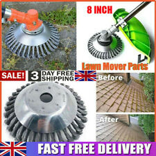 8 Inch NEW Solid Steel Wire Wheel Grass Strimmer Head Trimmer Brush Garden_Weed