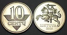 Lithuania 2008 10 Centu Coin BU Very Nice KM# 106