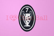 UEFA Champions League 7 Times Trophy (dark blue) Sleeve Soccer Patch / Badge