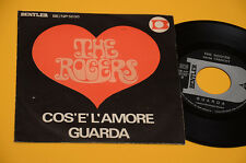 "THE ROGERS 7"" 45 (NO LP ) GUARDA 1°ST ORIG ITALY BEAT 1968 EX COPERTINA DIFFEREN"