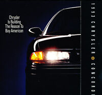 1993 Chrysler Concorde Intro Sales Brochure Promo