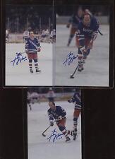 Guy LaFleur New York Rangers NHL 3 Different 4 X 6 Photos Autographed