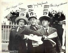 Three Stooges Signed 8x10 RePrint 3 Moe, Larry, Curly, Curley Howard Auto